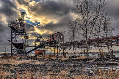 Photograph - Coal Loader by Chris Bordeleau