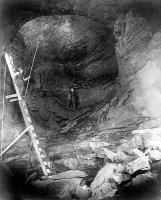 Miners Painting - Coal Mine Shaft, C1890 by Granger