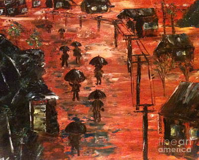 Coal Miners Cove  Art Print by Denise Tomasura