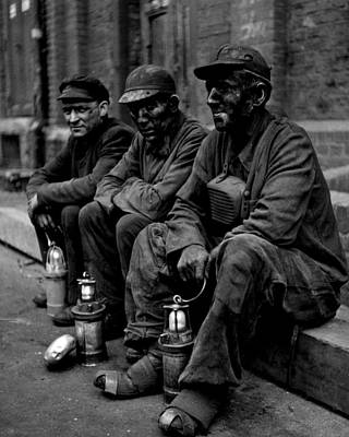 Old Miner Photograph - Coal Miners Dirty Job Vintage  by Retro Images Archive