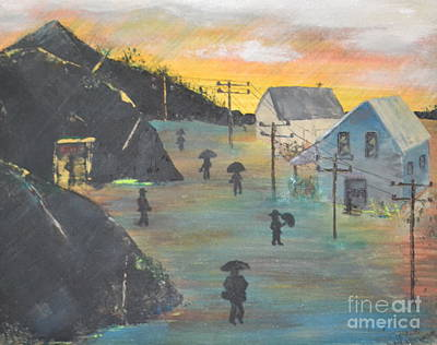 Painting - Coal Miners Village by Denise Tomasura