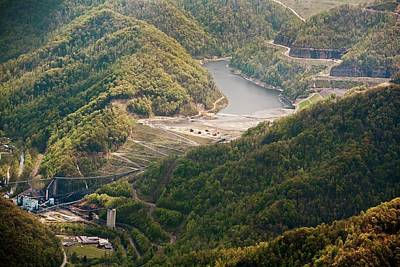 Coal Sludge Dam Art Print