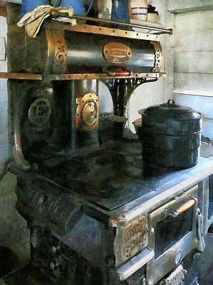 Vintage Photograph - Coal Stove by Susan Savad