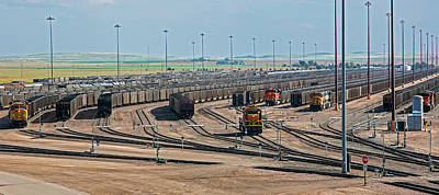 Coal Trains In Nebraska Rail Yard Art Print by Jim West
