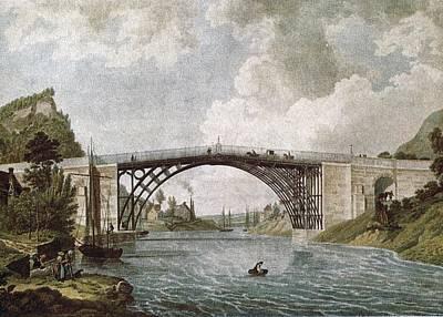 Coalbrookdale Bridge In 1779. Engraving Art Print by Everett