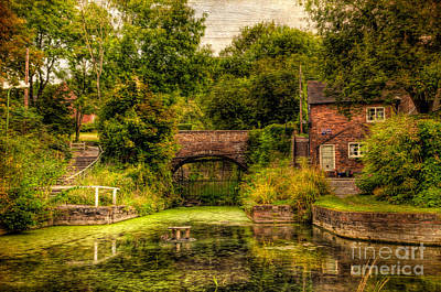 Rail Digital Art - Coalport Canal by Adrian Evans