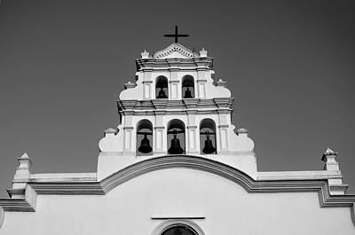 Photograph - Coamo Church Detail B W 1 by Ricardo J Ruiz de Porras