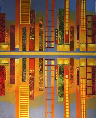 City Sunset Mixed Media - Coast City Sunset by Bob Craig