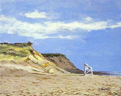 Point Guard Painting - Coast Guard Beach Eastham Cape Cod Massachusetts by Christine Hopkins