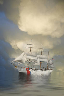 Coast Guard Photograph - Coast Guard Cutter Eagle by Jerry McElroy