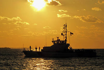 Photograph - Coast Guard In Paradise - Key West by Bob Slitzan