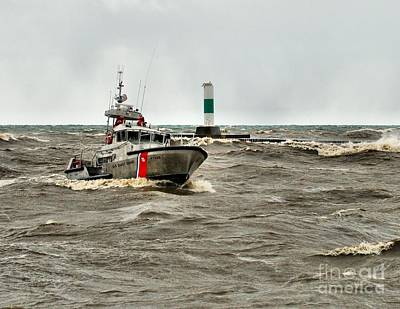 Photograph - Coast Guard On Lake Michigan by Nick Zelinsky