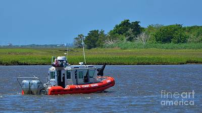 Photograph - Coast Guard On Patrol 2 by Bob Sample
