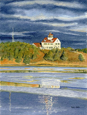 Cape Cod Painting - Coast Guard Reflections by Heidi Gallo
