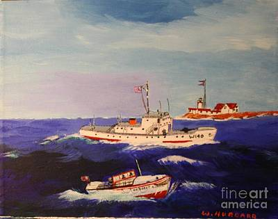 Bill Hubbard Acrylic Painting - Coast Guard Search And Rescue by Bill Hubbard