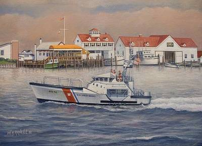 Coast Guard Station Art Print by William H RaVell III