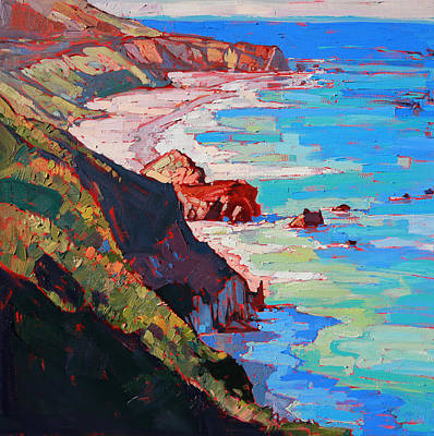 Painted Landscape Painting - Coast Line by Erin Hanson
