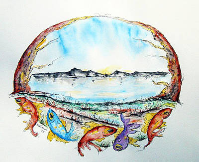 Coast Art Print by Natasa Dobrosavljev