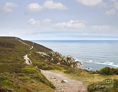 Coast Path At Cap De La Chevre Crozon Peninsula Finistere Brittany France Art Print