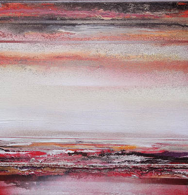 Mixed Media - Coast Rhythms And Textures Red And Black 1 by Mike   Bell