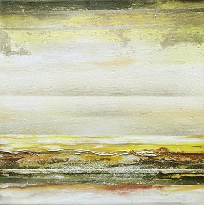Mixed Media - Coast Rhythms And Textures Yellow And Sepia 1  by Mike   Bell