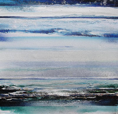 Mixed Media - Coast Rhythms And Texturesblueand Silver 1 by Mike   Bell