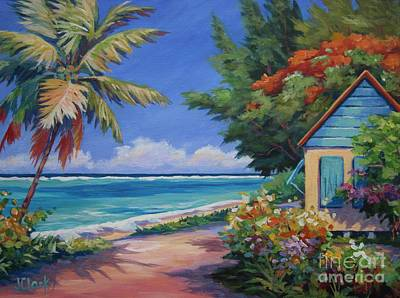 Caribbean Sea Painting - Coast Road by John Clark