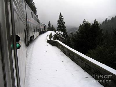 Coast Starlight In The Mountains Art Print