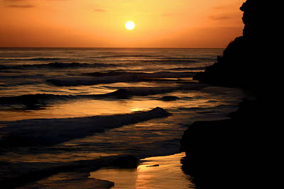 Digital Art - Coast Sunset by Photographic Art by Russel Ray Photos