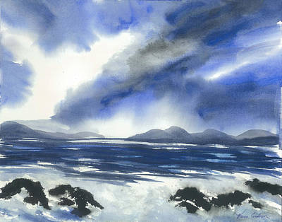 Coast To Coast Art Print by Karen  Condron