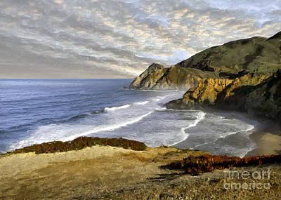 Photograph - Coastal Beauty Impasto by Sharon Foster