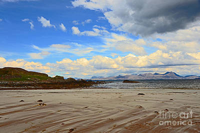 Photograph - Coastal Beauty Mellon Udrigle Beach Storm Clouds Scotland by Schwartz Nature Images