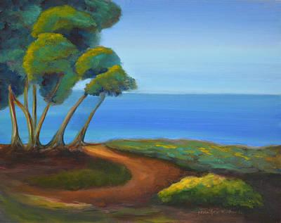 Torrey Pines Painting - Coastal Bluff by Jennifer Richards