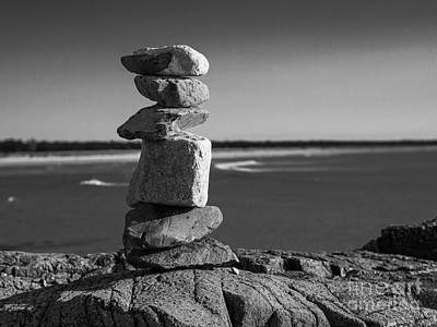 Photograph - Coastal Cairn by Steven Ralser