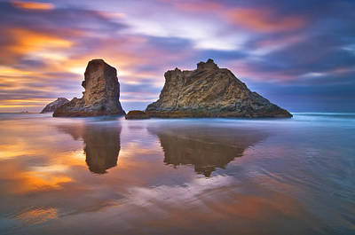 Reflections Photograph - Coastal Cloud Dance by Darren  White