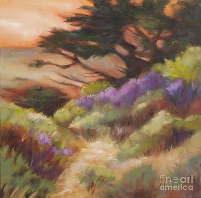 Moody Painting - Coastal Color by Mary Hubley