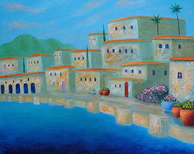 Art Print featuring the painting Coastal Colors by Larry Cirigliano
