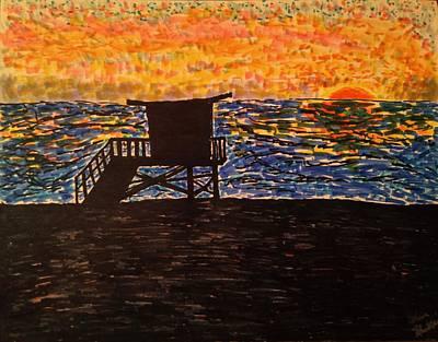 Beach Landscape Drawing - Coastal Contemplation by Glen Hunkins