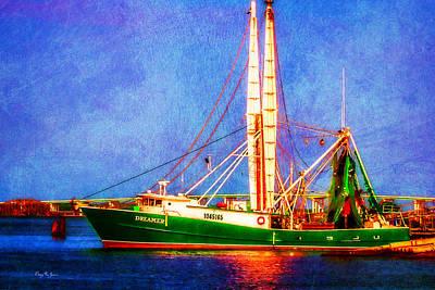 Photograph - Shrimp Boat - Nautical Coastal Dreaming by Barry Jones