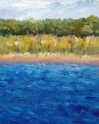 Abstract Seascape Painting - Coastal Dunes 2.0 by Michelle Calkins