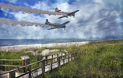 Beach Photograph - Coastal Flying by Betsy Knapp