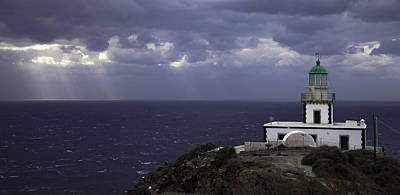 Photograph - Coastal Greece Santorini 06 by Sentio Photography
