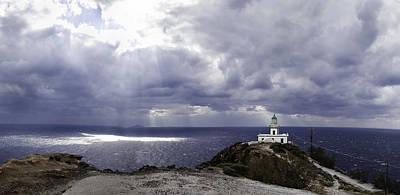 Photograph - Coastal Greece Santorini 08 by Sentio Photography