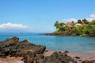 Photograph - Coastal Hhome On  Maui by John Orsbun