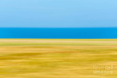 Abstract Seascape Photograph - Coastal Horizon 9 by Delphimages Photo Creations
