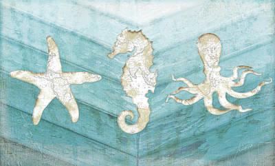 Reclaimed Wood Wall Art - Painting - Coastal by Jennifer Pugh