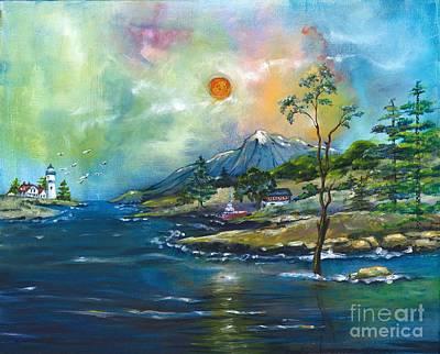 Coastal Landscape - Sunrise - Sunset Art Print by M E Wood