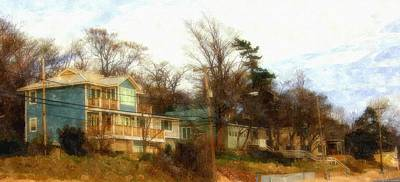 Coastal Living On The Dunes Of The Big Lake Art Print by Rosemarie E Seppala