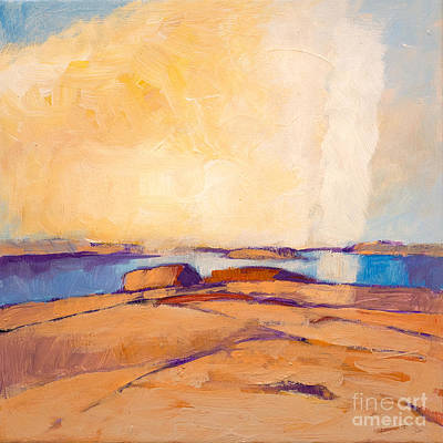 Abstractions Painting - Coastal by Lutz Baar