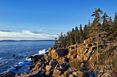 Coastal Maine Landscape. Art Print by John Greim